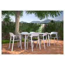 Resin Patio Table And Chairs Resol Resin Dining Patio Table Target