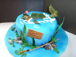 fish cake toppers interior design fresh fishing themed cake decorations decorating