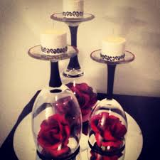 romantic red black and white centerpiece diy pinterest