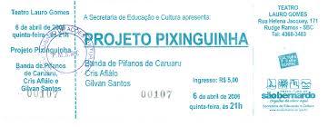ingresso s imagens em projeto pixinguinha brasil mem祿ria das artes