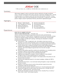 Resume Format For Sales And Marketing Manager Professional Director Of Member Services Templates To Showcase