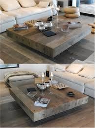 handmade wood coffee table bonheur wooden handmade square coffee table by didier cabuy wooden