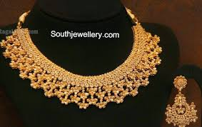 diamonds gold necklace images Malabar gold uncut diamond necklace jewellery designs jpg
