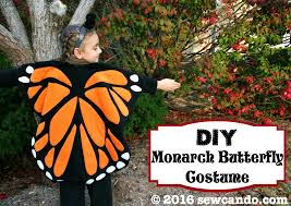 Monarch Butterfly Halloween Costume Sew Making Fleece Monarch Butterfly Costume