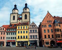 thesis of martin luther towers of st mary s church wittenberg germany 04 12 2016 towers of st mary s church wittenberg germany 04 12 2016 at the
