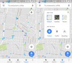 Goofle Map Google Maps Android App Funktion Zum Umschalten Der Layer Wandert