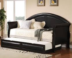 Black Furniture For Bedroom Bedroom Simply White Trundle Bed Plus Grey Mattress For Bedroom
