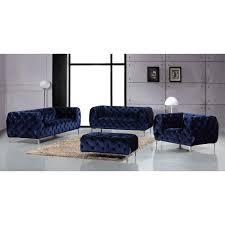 meridian furniture 646navy s mercer navy velvet w all over
