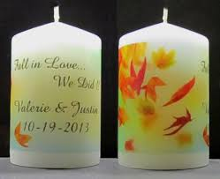 personalized candle favors personalized candle favors imprinted 2x3 pillar