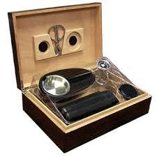 the davenport cigar humidor gift set