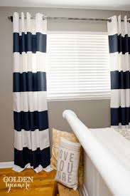 striped bedroom curtains diy painted stripe curtains and distressed pipe curtain rod the