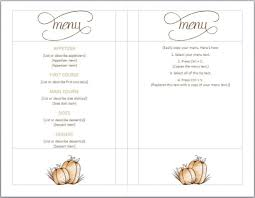 5 course menu template printable menu template free it resume cover letter sle