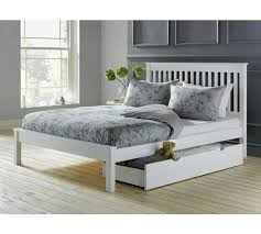 4ft bed buy collection aspley small double bed frame white at argos co