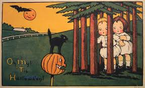 cabinet of curious treasures antique halloween cards