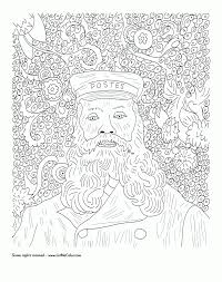 coloring van gogh coloring pages