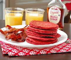 red velvet pancakes blissfully delicious
