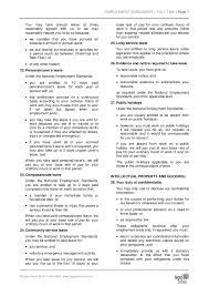 part time employment agreement template australia sample