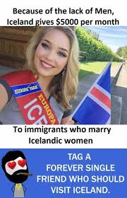 Iceland Meme - dopl3r com memes because of the lack of men iceland gives