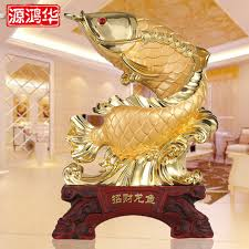 lucky arowana resin ornaments in stores wholesale agents