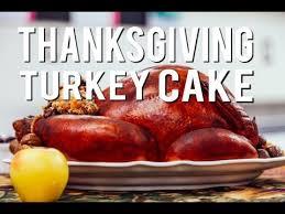 vanilla thanksgiving roasted turkey cake with sweet poundcake