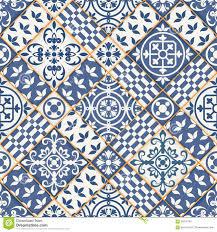 nahtloses patchworkmuster marokkanische fliesen vektor abbildung