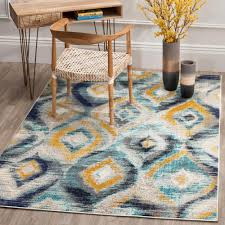 Rugs With Teal Teal Watercolor Area Rugs Rugs The Home Depot