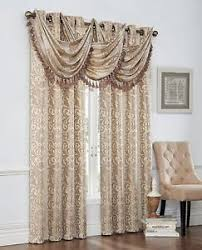 Grommet Top Valances Verano Complete Grommet Top Set 2 Panels W 3 Fringed Waterfall