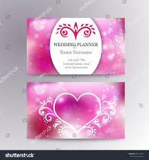 wedding planner business card vector elegant feminine business card template stock vector