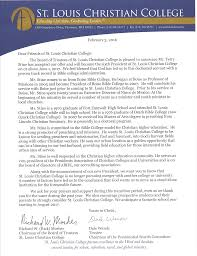 Bible College Acceptance Letter terry stine named president st louis christian college