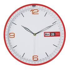 amazon com justnile modern minimalist round wall clock 12 inch