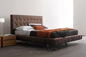 Leather Platform Bed Omega Leather Bed By Presotto Room Service 360