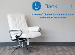 Low Leather Chair Stressless City Low Back Batick Snow Chrome Base Leather Recliner