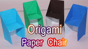 how to make origami paper chair craft tutorials paper crafts
