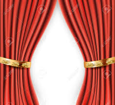 Gold Satin Curtains Wedding Red Satin Curtains With Gold Background Royalty Free