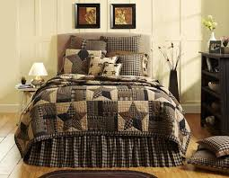 Country Bed Sets 7pc Bingham Primitive Country Quilt Shams Pillow Cases Skirt