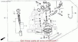 honda xr100r 1994 r usa carburetor schematic partsfiche
