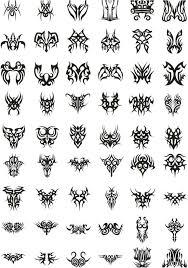 tribal designs templates and tatoo