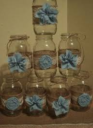 jar baby shower ideas finished jar centerpiece for boy baby shower my diys