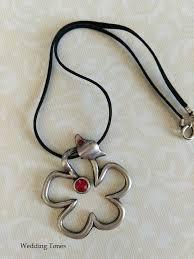 swarovski crystal flower necklace images Handmade flower necklace with red swarovski crystals wedding tones jpg