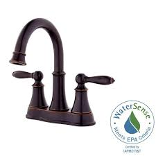 pfister courant 4 in centerset 2 handle bathroom faucet in tuscan