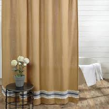 Burlap Ruffle Curtain Country Shower Curtains Mill Creek 72