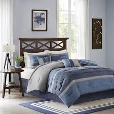 Navy Stripe Comforter Set Shop Madison Park Collins Comforters Navy The Home Decorating