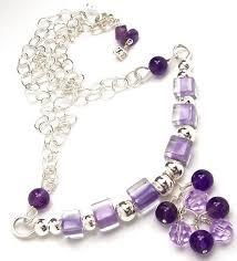 purple gemstone necklace images Purple necklace beaded bar necklace amethyst gemstone cane jpg