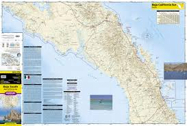 Mexico Toll Road Map by Baja South Baja California Sur Mexico National Geographic