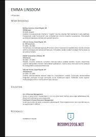 Hr Generalist Resume Examples by Targeted Resume Template