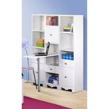 Modular Home Office Furniture Simple Creative White Home Office Design Using A Tiered Racks As