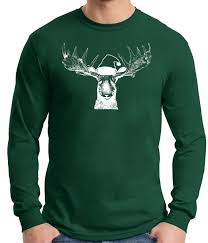 sweater moose lover on a sleeve t shirtmoose