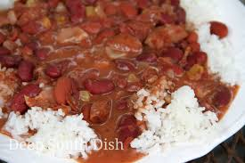 deep south dish blue runner shortcut red beans and rice