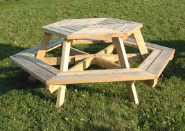 stylish hexagon picnic table and home hardware picnic table