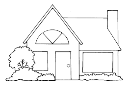 house clipart free black and white clipartxtras